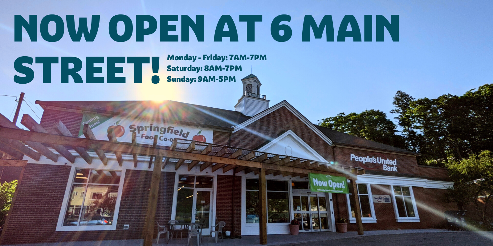 [IMAGE OF NEW DOWNTOWN STOREFRONT]  NOW OPEN AT 6 MAIN STREET  Monday - Friday: 7AM-7PM Saturday: 8AM-7PM Sunday: 9AM-5PM